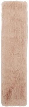 Yves Salomon Pink Fur Scarf