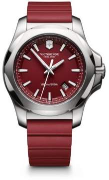 Victorinox Maverick Inox Stainless Steel & Rubber Watch