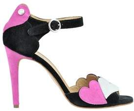 Love Moschino Women's Multicolor Suede Sandals.