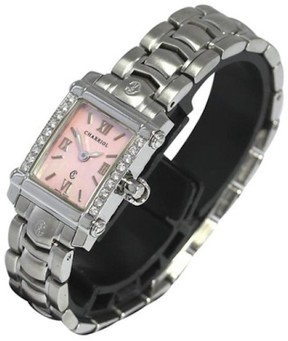 Charriol Columbus Stainless Steel & Pink Shell Dial 18mm Womens Watch