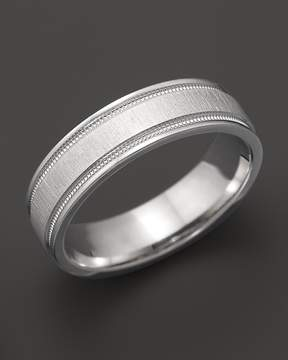 Bloomingdale's Men's 14K White Gold Comfort Feel Engraved Wedding Band - 100% Exclusive