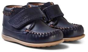 Bisgaard Navy Prewalker Moccasin Shoes