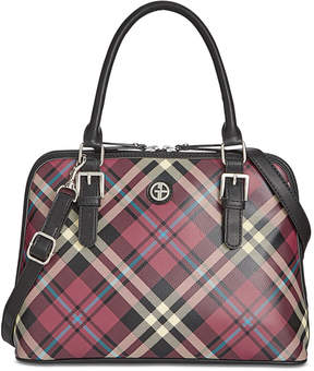 Giani Bernini Plaid Dome Satchel, Created for Macy's