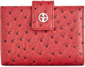 Giani Bernini Ostrich-Embossed Index Wallet