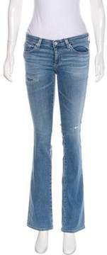 Adriano Goldschmied Mid-Rise Distressed Jeans w/ Tags