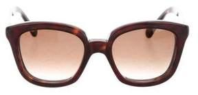 Balenciaga Square Tortoiseshell Sunglasses