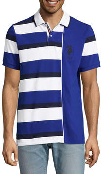 U.S. Polo Assn. USPA Embroidered Short Sleeve Stripe Pique Polo Shirt