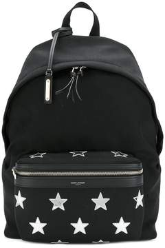 Saint Laurent City star patch backpack