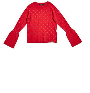 GUESS Studded Bell-Sleeve Sweater (7-16)