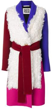 Fausto Puglisi colour block coat