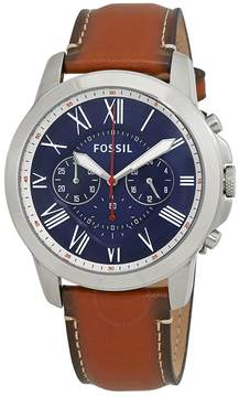 Fossil Grant Chronograph Navy Blue Dial Men's Watch