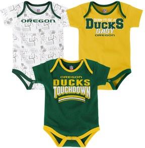 NCAA Baby Oregon Ducks Playmaker 3-Pack Bodysuit Set