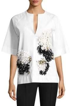 Derek Lam Embellished Cotton Top