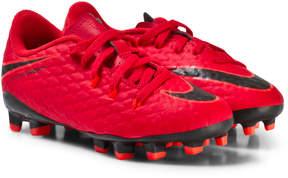 Nike Red Hypervenom Phelon III Junior Firm Ground Football Boots