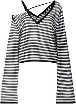 Ann Demeulemeester cut out striped sweater