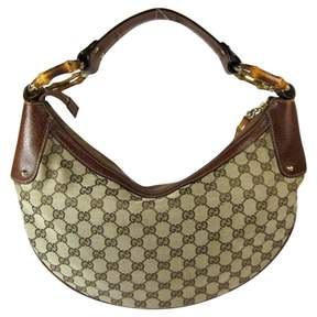 Gucci Bamboo leather handbag - BROWN - STYLE