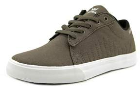 Supra Kids Belmont Youth Round Toe Canvas Brown Skate Shoe.