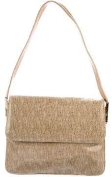 Stuart Weitzman Leather-Trimmed Shoulder Bag