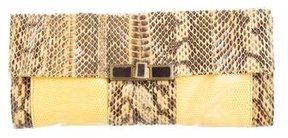 R&Y Augousti Watersnake Windowpane Clutch