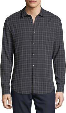 Neiman Marcus The Good Man Brand Ombre Plaid Point-Collar Cotton Shirt