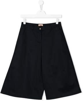 No.21 Kids TEEN wide leg knee length shorts
