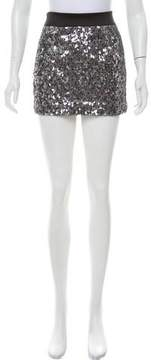 Cynthia Steffe Sequin Embellished Mini Skirt