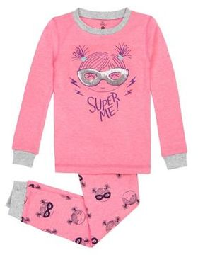 Petit Lem Little Girl's Two-Piece Knitted Pajamas