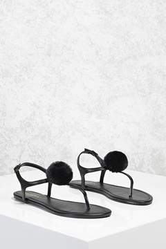 Forever 21 Pom Pom Thong Sandals