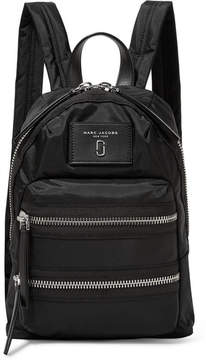 Marc Jacobs Biker Mini Leather-trimmed Shell Backpack - Black
