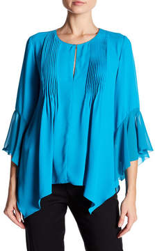T Tahari Kate Bell Sleeve Satin Blouse