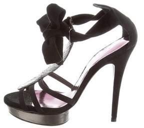 Barbara Bui Python-Trimmed Platform Sandals