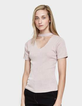 Which We Want Cut-Out Tee in Mauve