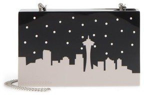 Nordstrom City Skyline Box Clutch - Metallic