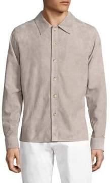 Corneliani Long Sleeve Suede Shirt Jacket