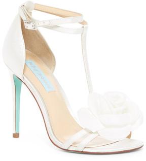 Betsey Johnson Emme Floral Ankle Strap Sandal