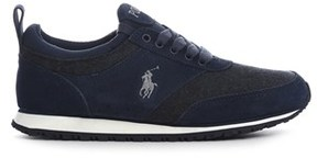 Ralph Lauren Men's Blue Leather Sneakers.