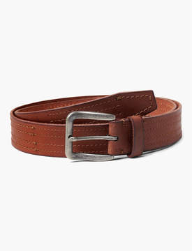 Lucky Brand STITCHED LEATHER BELT