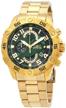 Invicta S1 Rally Chronograph Green Dial Men's Watch