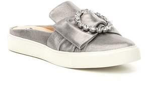 Karl Lagerfeld Paris PARIS Elle Bow Metallic Suede Mule Sneakers