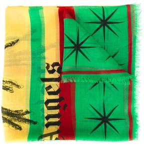 Palm Angels 'Rastafari Skull' scarf