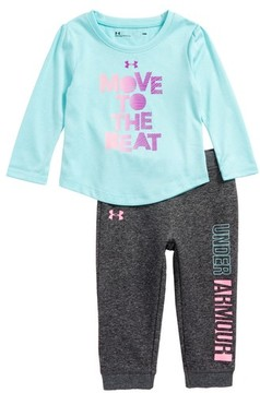 Under Armour Infant Girl's Move To The Beat Tee & Pants Set