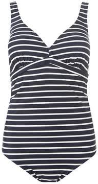 Mama Licious *Mamalicious Maternity Navy Striped Swimsuit