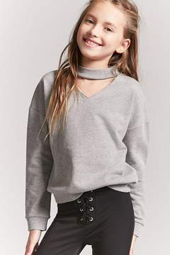 Forever 21 Girls Cutout Sweatshirt (Kids)