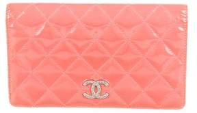Chanel Patent Leather Yen Wallet