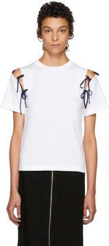 Facetasm SSENSE Exclusive White Tie Shoulder T-Shirt