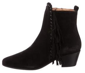 IRO Suede Pointed-Toe Ankle Boots w/ Tags