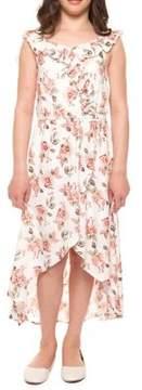 Dex Girl's Floral Wrap Dress