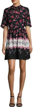 CeCe Women's Elise Floral Print A Line Dress