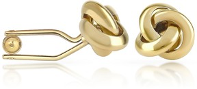 Forzieri Knot Gold Plated Cuff Links
