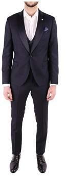 Manuel Ritz Men's Blue Wool Suit.